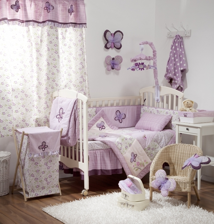 Baby Crib Bedding Sets Purple Bedroom Comforter Set Picture