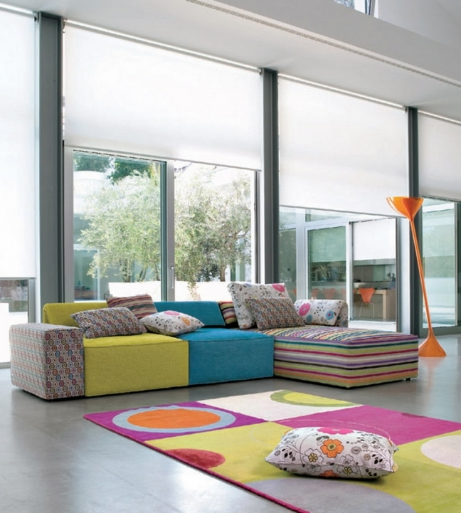 Beautiful Contemporary Living Room Furniture Ideas Within Stunning Interior Design Ideas Attractive Sofa And Colorful Rug Images 812