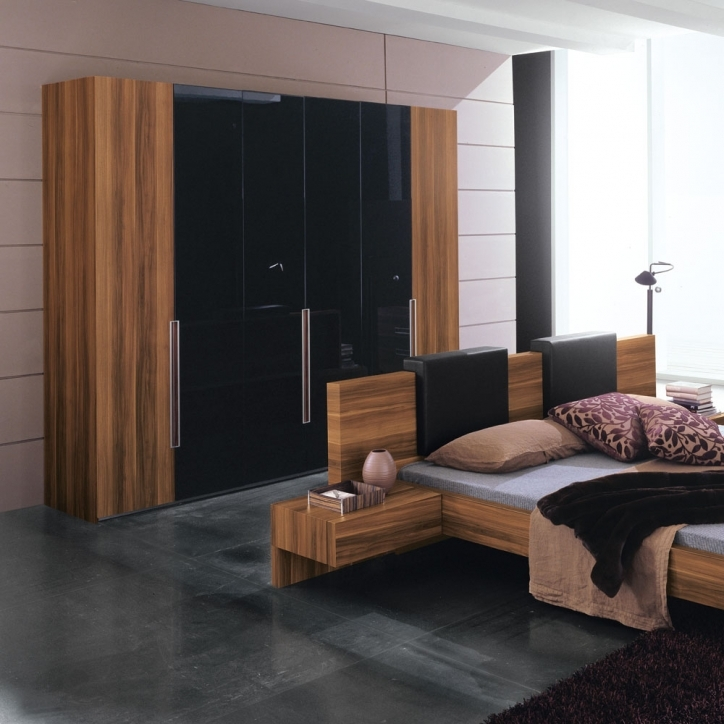 Bedroom Cupboard Designs And Colours Inside Attractive Interior Design And Simple Wooden Bedstead Picture 225