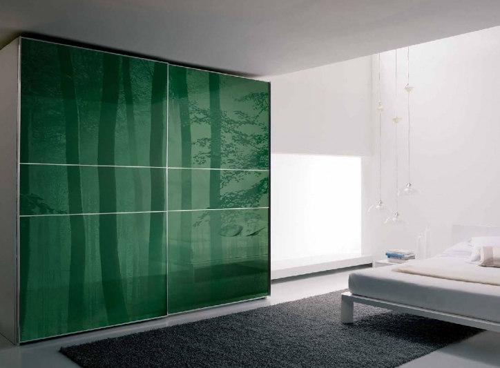 Bedroom Cupboard Designs And Colours With Outstanding Green And White Immagini Italian Wardrobe Design Inspiration Pic 916