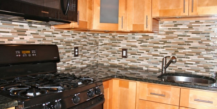 Delightful Mosaic Kitchen Backsplash Style Design 363