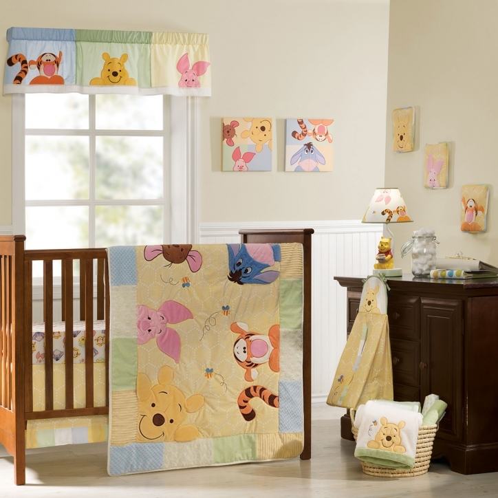 Disney Baby Crib Bedding Sets Peeking Wnny The Pooh Bedding Pictures