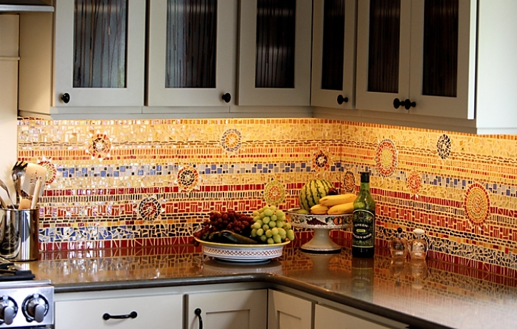 Fascinating Mosaic Kitchen Backsplash Eye Candy Diy 444