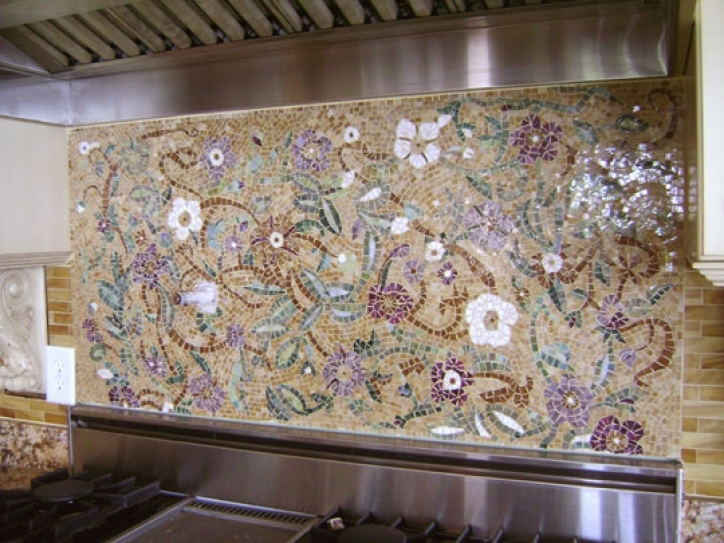 Gorgeous Mosaic Kitchen Backsplash Beautiful Floral Designs 392