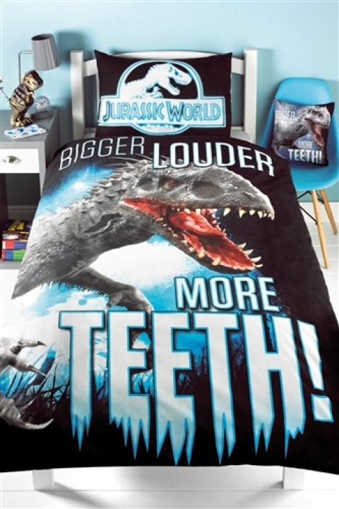Jurassic World Bedding Co Ordinates Glow In The Dark Single Duvet Set Picture 295