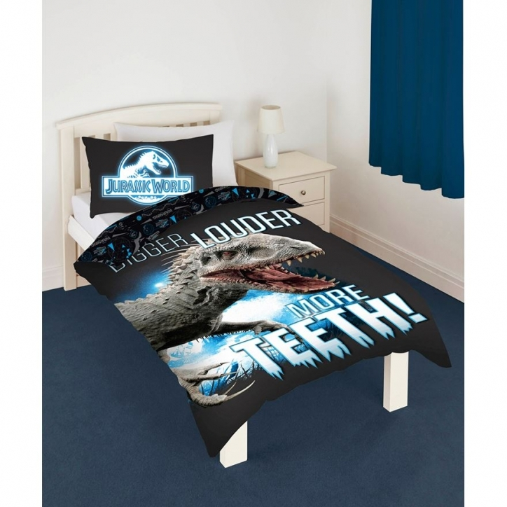 Jurassic World Bedding Glow In The Dark Single Duvet Set Pics 309