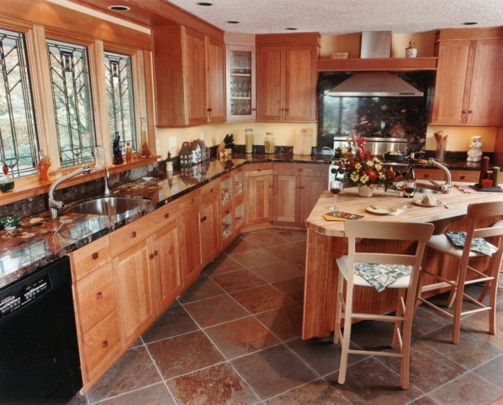 Kitchen Flooring Ideas Inside Delightful Light Wood Cabinets And Countertops Ideas Pics496