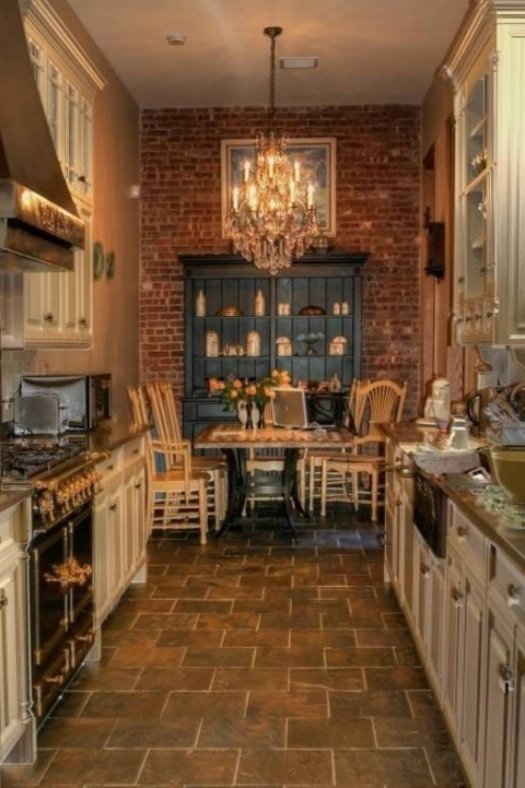 Kitchen Flooring Ideas With Amazing Rustic Design Galley Kitchen Floor Plans And Cabinets Image660