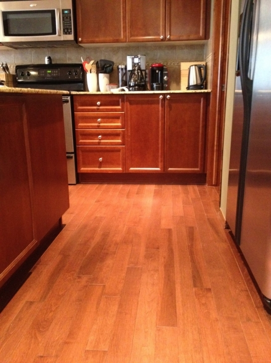 Kitchen Flooring Ideas With Brilliant Wooden Kitchen Floor And Nice Cabinets Photo190