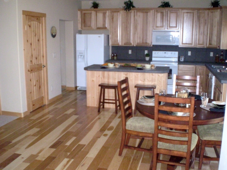 Kitchen Flooring Ideas With Excellent Wood Kitchen Cabinets And Classic Wooden Wall  Pic732