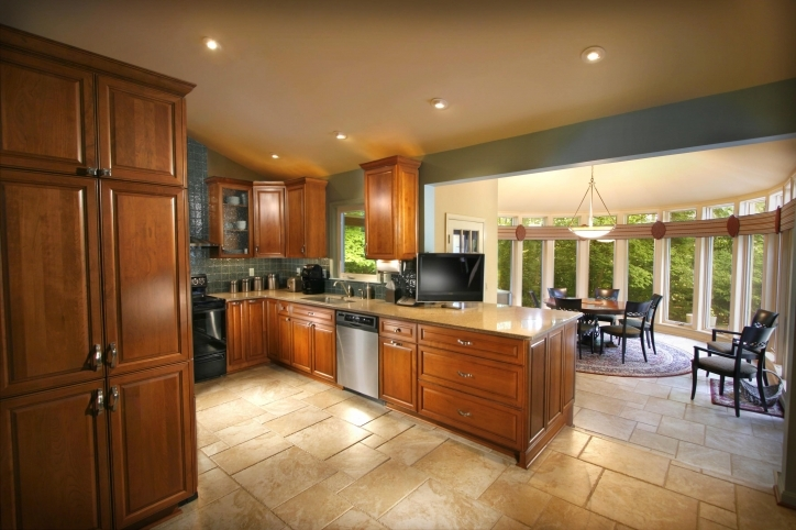 Kitchen Flooring Ideas Within Excellent Designs Kitchen Tile Floor With Dark Cabinets Image036
