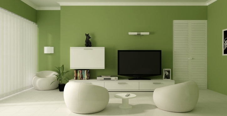 Living Room Paint Ideas Within Gorgeous Green Wall Ideas 131