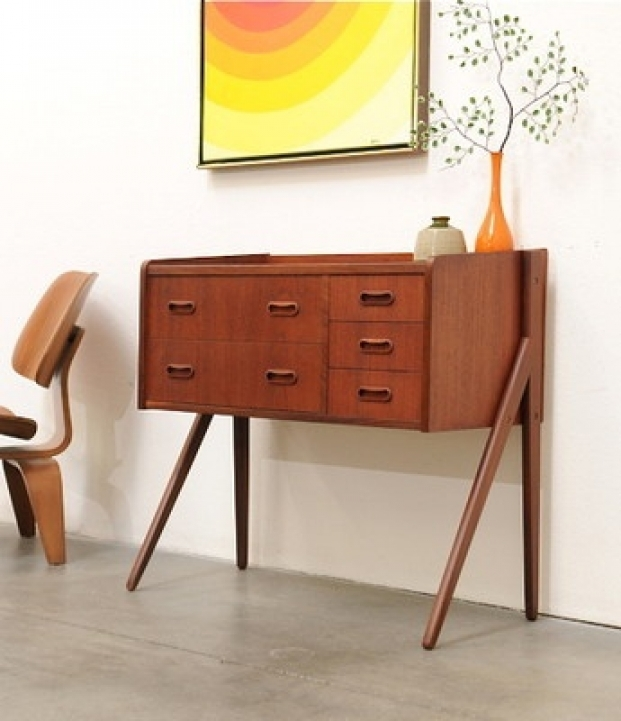 Mid Century Modern Credenza Inside Brilliant Danish Modern Teak Entry Chest Table Photo 645