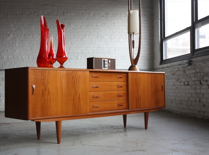 Mid Century Modern Credenza Inside Fantastic Danish Domination Mid Century Modern Clausen And Son Long Teak Images 036