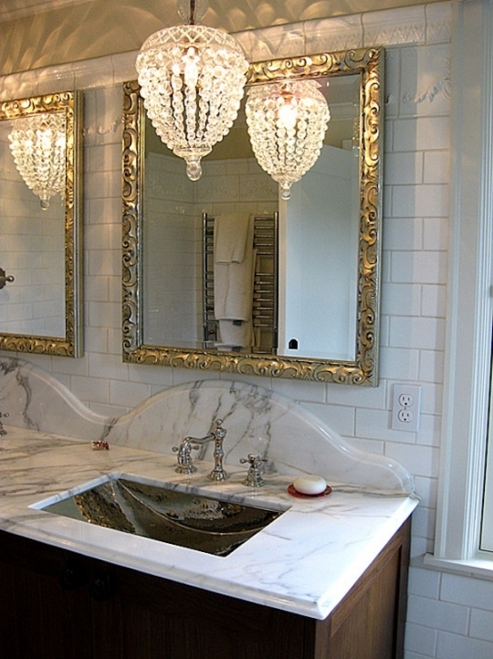 Mini Crystal Chandeliers For Bathroom Extraordinary Design 305