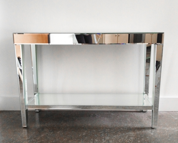 Mirrored Console Table Inside Attractive Half Moon Contemporary Console Tables  136