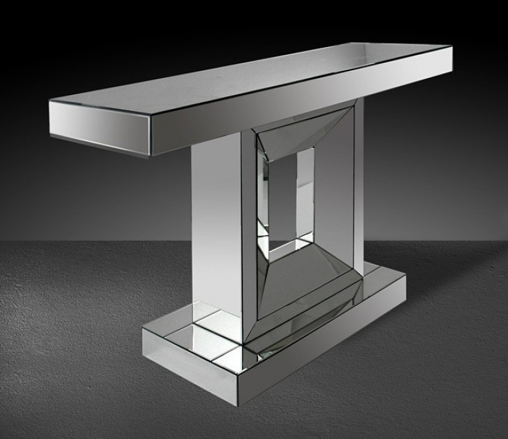 Mirrored Console Table Inside Incredible Modrest Aurora 362