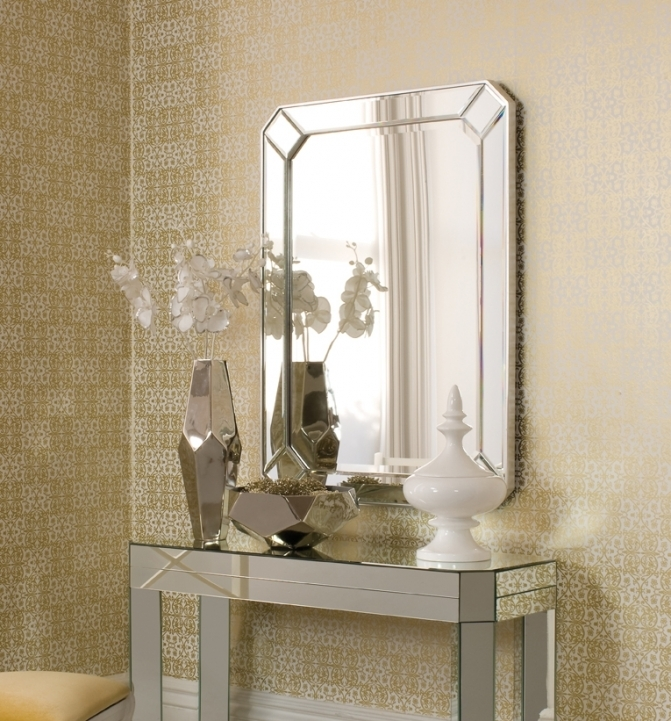 Mirrored Console Table Inside Outstanding Entry Console Table With Mirror 662