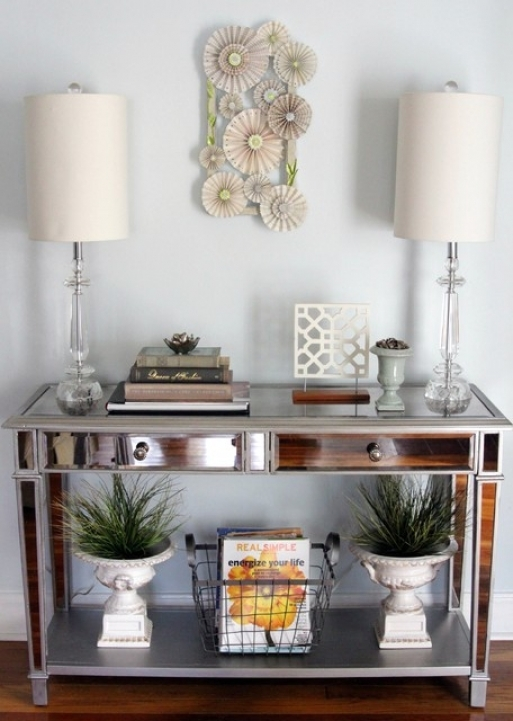Mirrored Console Table With Excellent Eclectic Entry Metro Ideas 776
