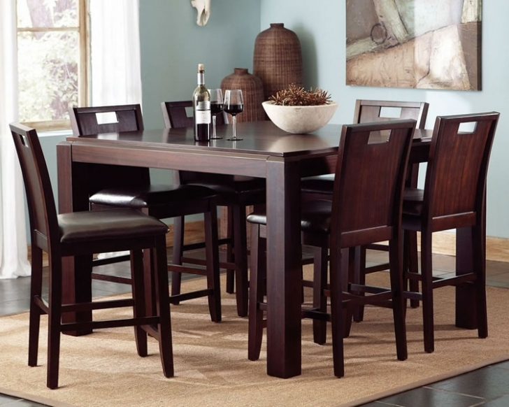 Modern Counter Height Dining Sets With Delightful Design 7 Piece Home Furnishing Ideas Image