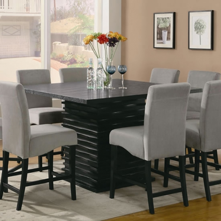 Modern Counter Height Dining Table Set Regarding Cozy 7 Piece Furniture Ideas Dining Room Pics