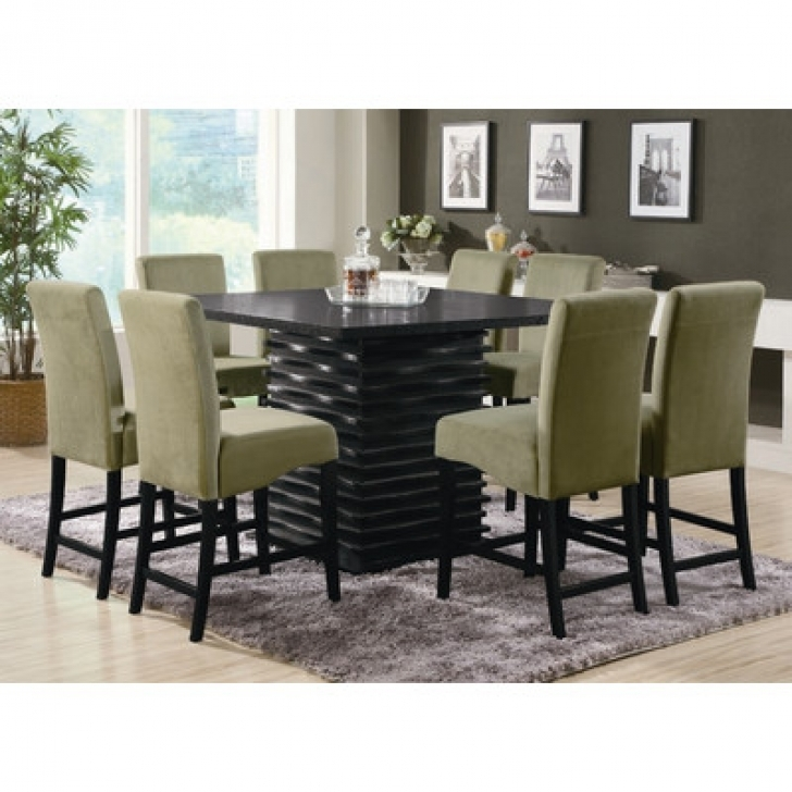 Modern Counter Height Dining Table Set With Brilliant Brownville Design Photos