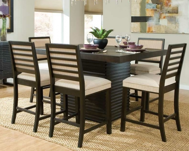 Modern Counter Height Dining Table Set With Cozy Home Furniture Decorations Picture