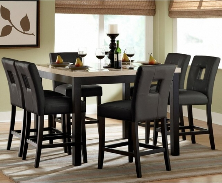 Modern Counter Height Dining Table Set With Wonderful  Black Ideas Contemporary Dining Room Furniture Pictures