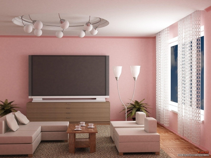 Paint Colors For Living Rooms Regarding Brilliant Interior Design With Pink Color Schemes And Beautiful Curtain 218