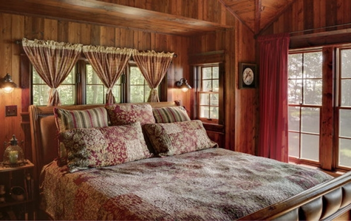 Rustic Bedroom Furniture Ideas Contemporary Wooden Wall  926