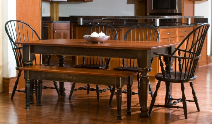 Rustic Dining Room Sets Inside Amazing Dining Room Table With Brown Solid Teak Wood Pic 015