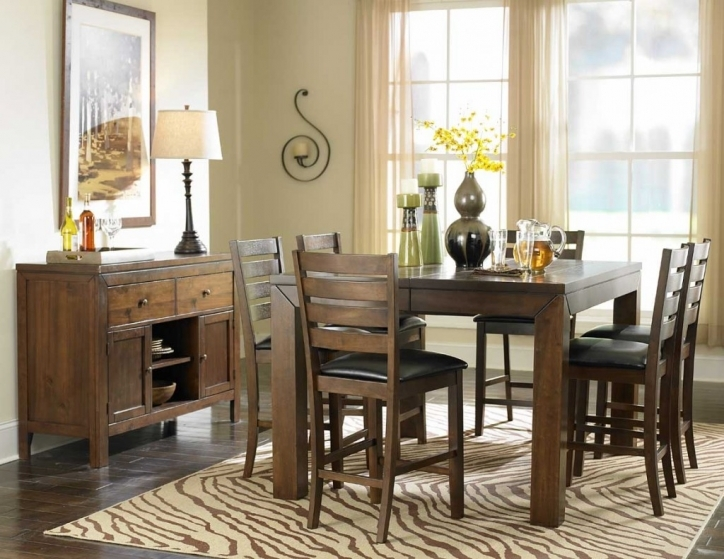 Rustic Dining Room Sets With Cozy Rustic Counter Height Dining Table Sets Picture 676