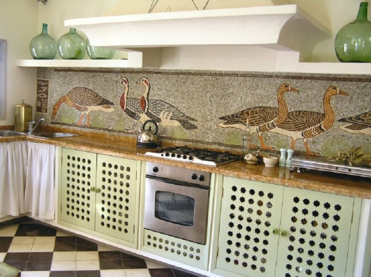 Stylish Mosaic Kitchen Backsplash Style Ideas 845