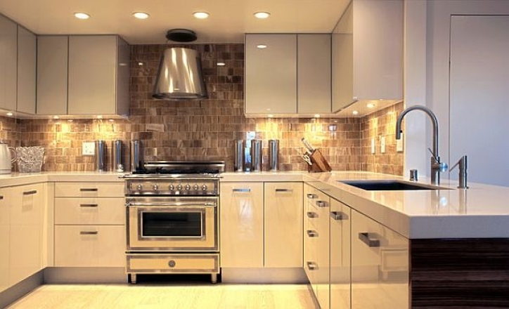 Under Cabinet Lighting Ideas With Stylish Ultra Modern Glossy Kitchen Photo 811