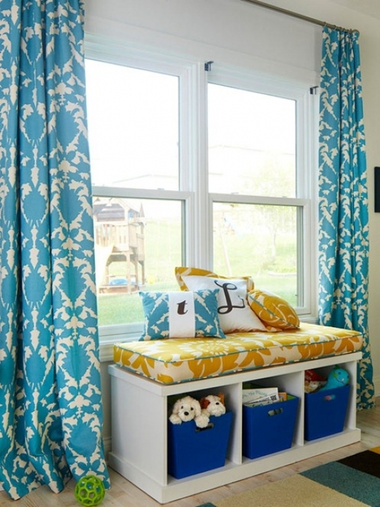Under Window Storage Benches Design Ideas Wih Cool Curtains 297