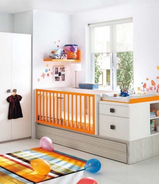 Under Window Storage Modern Baby Room For Boys With Drawer Storage Under Cradle Bed Ideas 010