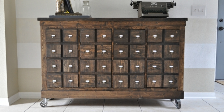 Apothecary Cabinet Ikea Cubbies Into A Rustic Photo