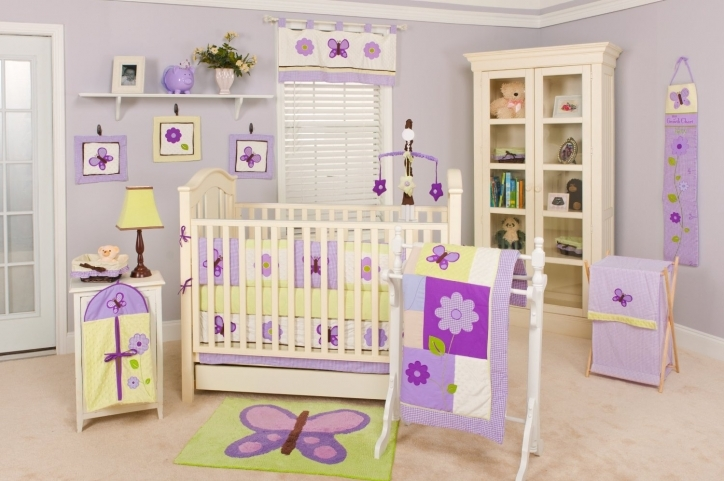 Baby Girl Nursery Themes Purple Accent Toddler Girls Bedroom Colour Ideas Country Interior Picture
