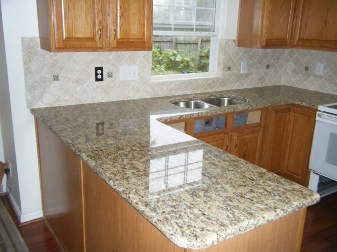 Beautiful Santa Cecilia Light Granite Kitchen Backsplash Ideas Design  Photos