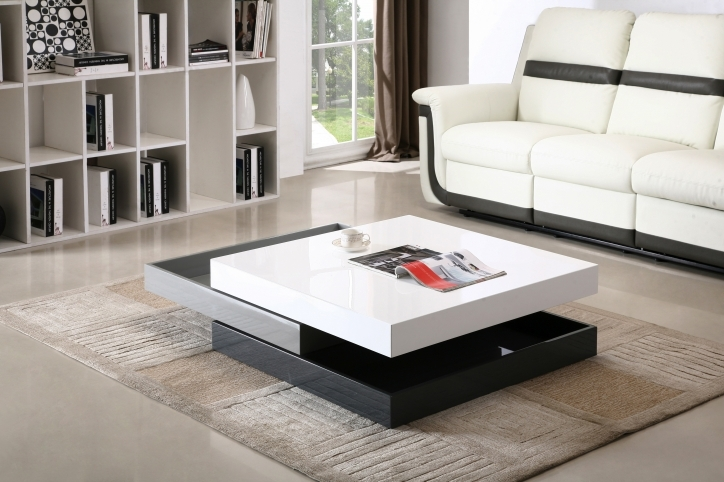 Contemporary Coffee Tables With Storage Square Stacked For Living Room Furniture Photo
