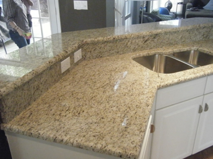 Cozy Santa Cecilia Light Granite Kitchen Giallo Ornamental Granite Countertops Charlotte Photo