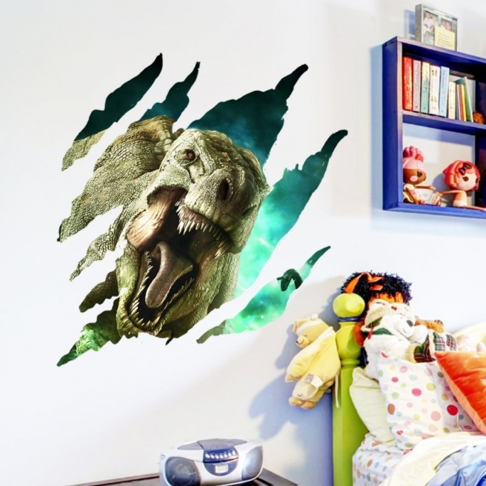 Jurassic World Room Break Wall Jurassic World Wall Sticker Jurassic Removable Art Wall Park Wall Decal Vinyl Dinosaur Stickers Pic