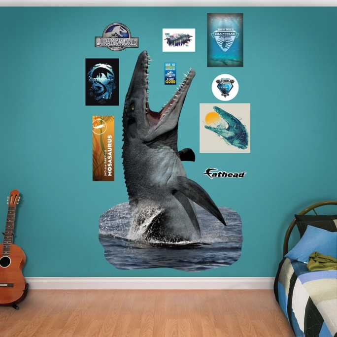 Jurassic World Room Mosasaurus Fathead Wall Decals Pic