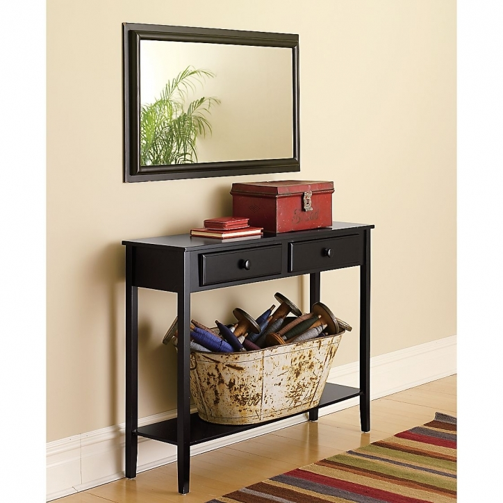 Narrow Hall Table Furniture Oak Black Ideas Picture