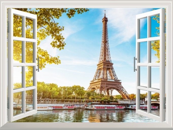 Outstanding Removable Wall Murals High Quality Wall Sticker Eiffel Tower Ideas Image