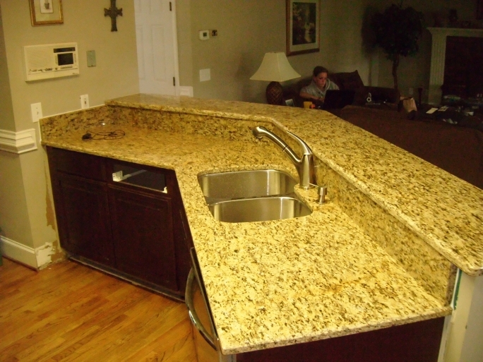 Outstanding Santa Cecilia Light Granite Kitchen Home Decor Pic
