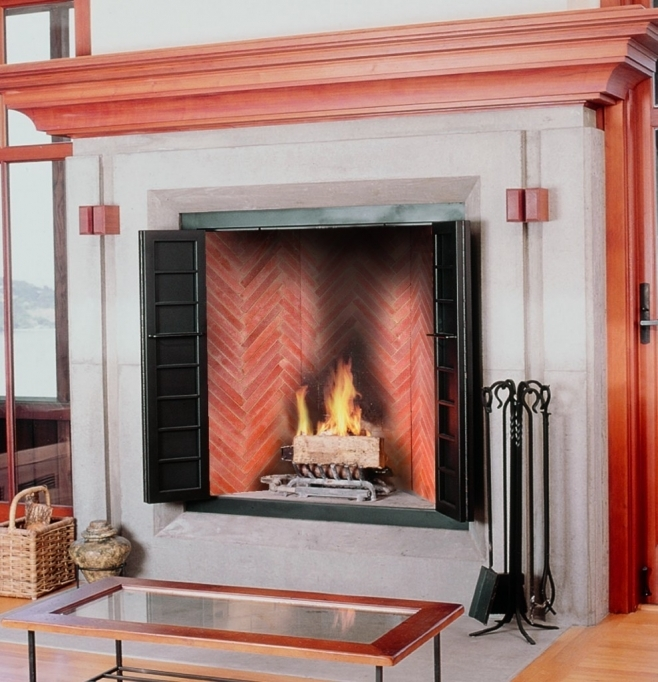 Pleasant Hearth Fireplace Doors Fireboxes Superior Clay Fireplace With Electric Fireplace Feat Grey Granite