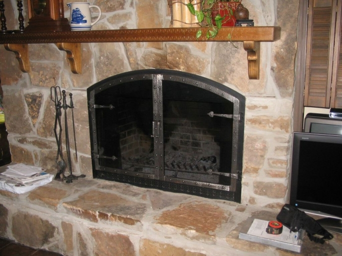 Pleasant Hearth Fireplace Doors Traditional Glass Fireplace Doors
