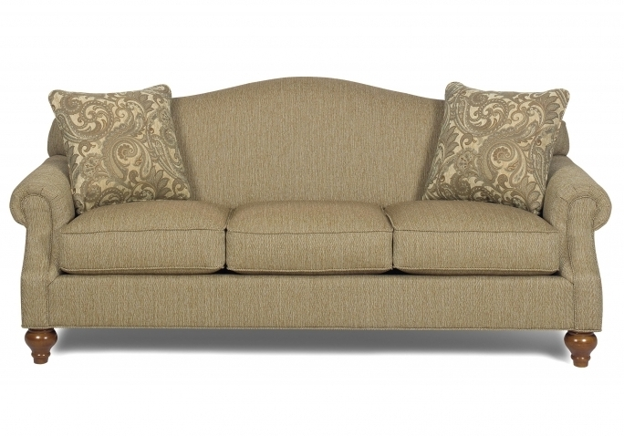 Traditional Camelback Sofa With Turned Legs Images