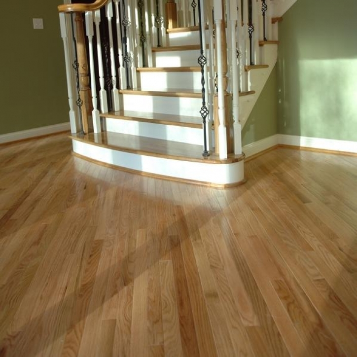 Unfinished Hardwood Flooring Red Oak Staircase Picture